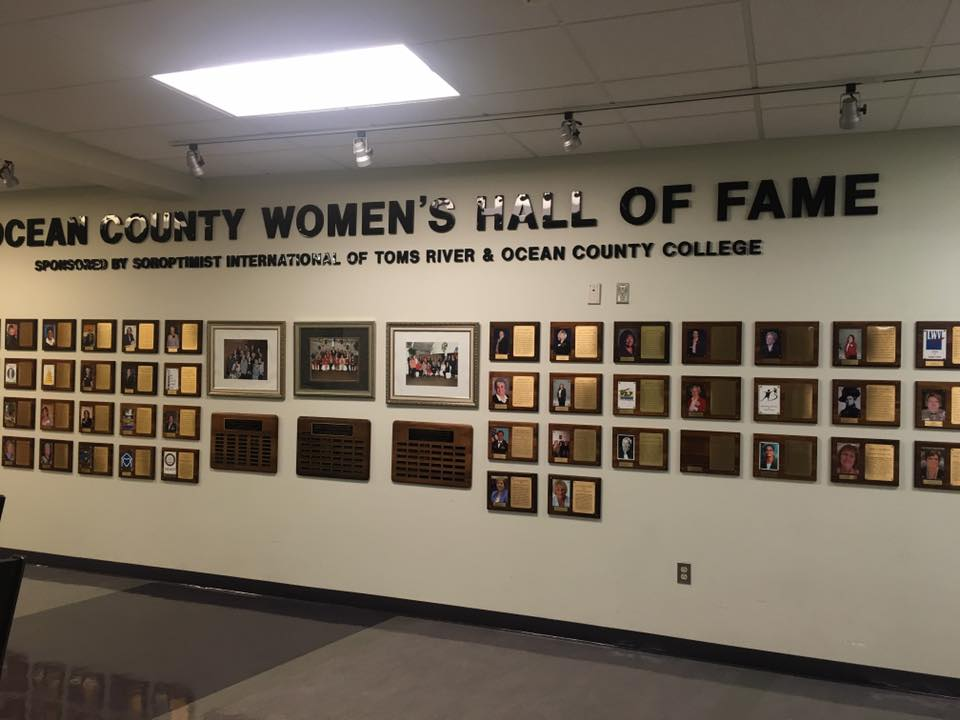 Hall of Fame Award Plaques at Ocean County College